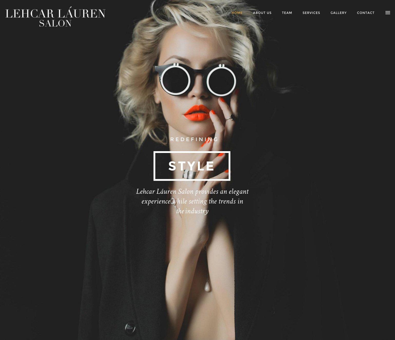 Lehcar Láuren Salon Website