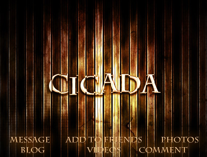Cicada Myspace