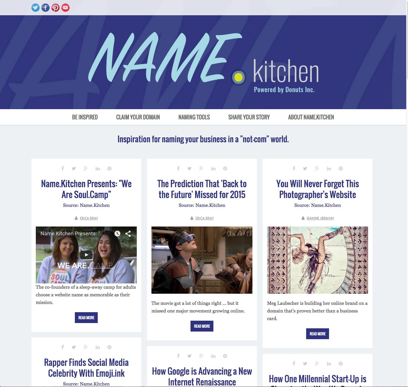 Name.Kitchen Website