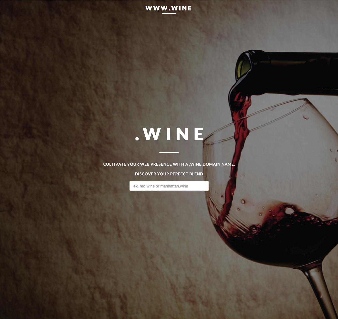 www.wine Website